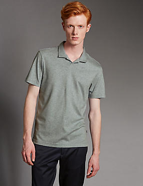 Supima® Cotton Trophy Neck Slim Fit Polo Shirt