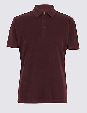 Cotton Rich Towelling Polo Shirt