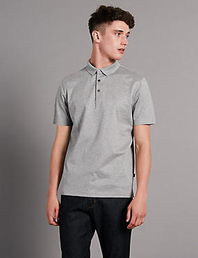 Supima® Cotton Tailored Fit Bubble Tex Polo Shirt