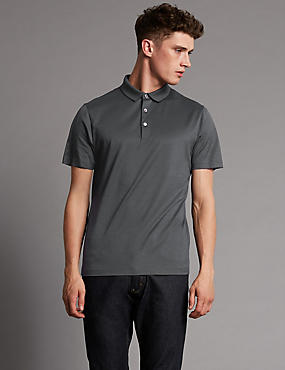 Supima® Cotton Tailored Fit Polo Shirt