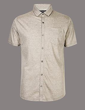 Slim Fit Striped Polo Shirt, GREY MIX, catlanding