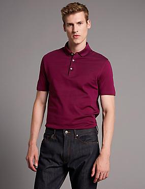 Supima® Cotton Polo Shirt, RASPBERRY MIX, catlanding