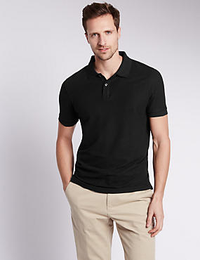 Slim Fit Pure Cotton Polo Shirt with StayNEW™