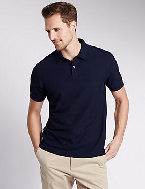 Tailored Fit Pure Cotton Polo Shirt