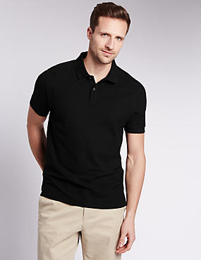 Tailored Fit Pure Cotton Polo Shirt with StayNEW™