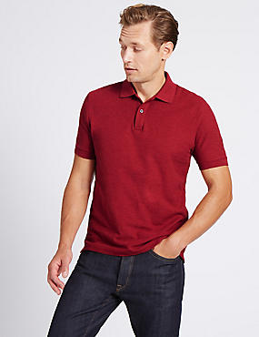 Slim Fit Pure Cotton Polo Shirt