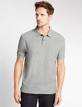Pure Cotton Polo Shirt with StayNEW™
