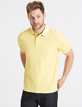 Pure Cotton Pique Polo Shirt