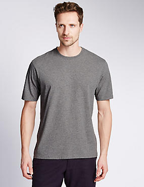 Pure Cotton Crew Neck T-Shirt