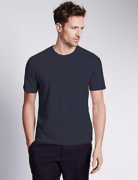 Slim Fit Pure Cotton T-Shirt with StayNEW™ & Stay Soft