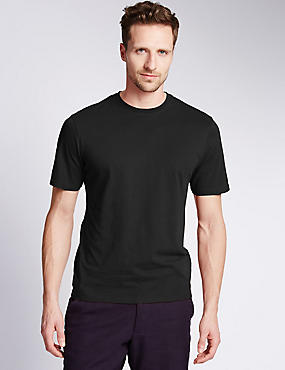 Tailored Fit Pure Cotton T-Shirt with StayNEW™ & Stay Soft