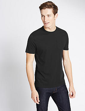 Slim Fit Pure Cotton T-Shirt with Stay Soft