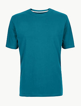 Pure Cotton T-Shirt with Cool Comfort™ , DARK TEAL, catlanding