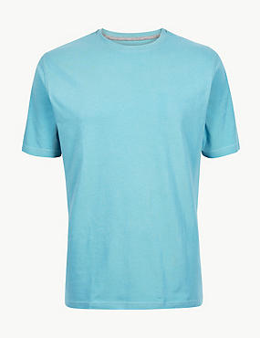 Pure Cotton T-Shirt with Cool Comfort™ , SKY BLUE, catlanding
