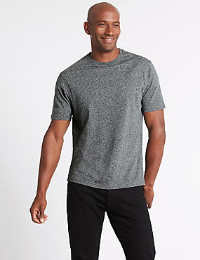 Pure Cotton Slim Fit Crew Neck T-Shirt