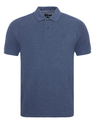 Tailored Fit Pure Cotton Polo Shirt with StayNEW™ Clothing