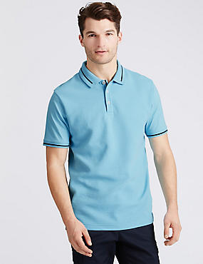 Big & Tall Pure Cotton Textured Polo Shirt