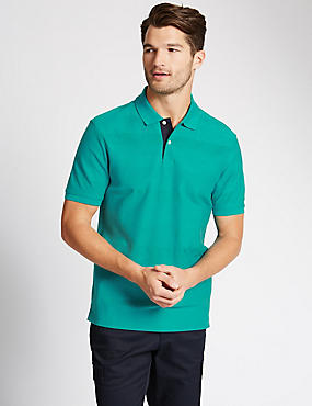 Pure Cotton Mercerised Polo Shirt
