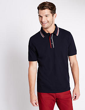 Cotton Rich Tailored Fit Polo Shirt