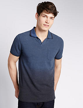 Dip Dye Tailored Fit Polo Shirt