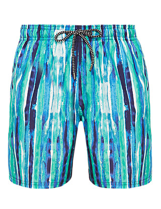 Quick Dry Striped Swim Shorts Clothing