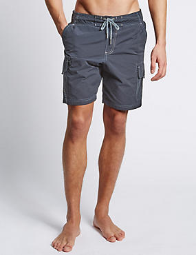 Cotton Rich Quick Dry Cargo Swim Shorts