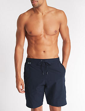 Cotton Rich Quick Dry Swim Shorts, NAVY, catlanding