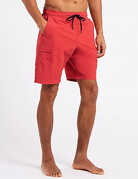 Cotton Rich Quick Dry Swim Shorts, FLAME, catlanding