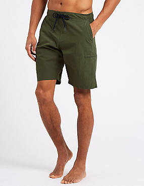 Cotton Rich Quick Dry Swim Shorts, KHAKI, catlanding