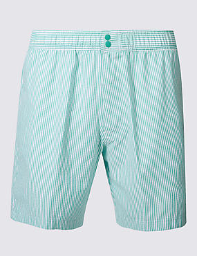 Quick Dry Seersucker Swim Shorts