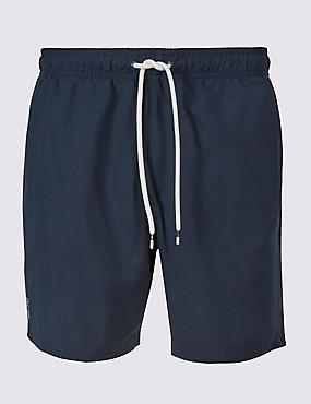 Quick Dry Swim Shorts, DARK NAVY, catlanding