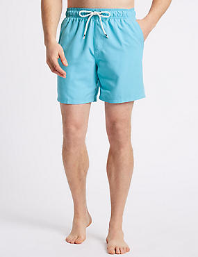 Quick Dry Swim Shorts, AZURE BLUE, catlanding