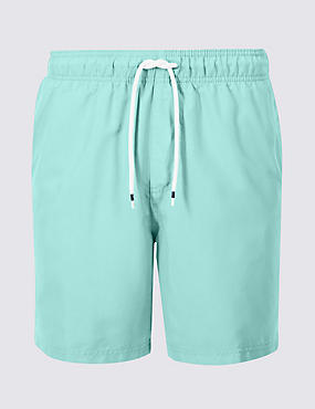 Quick Dry Swim Shorts, SOFT TURQUOISE, catlanding