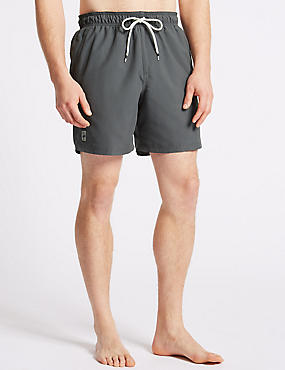 Quick Dry Swim Shorts, GREY, catlanding