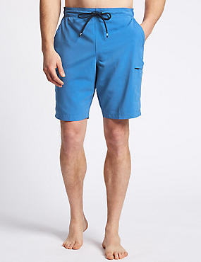 Quick Dry Cargo Swim Shorts, BRIGHT BLUE, catlanding