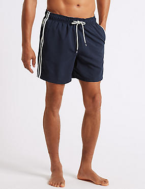 Striped Quick Dry Shorts, NAVY, catlanding