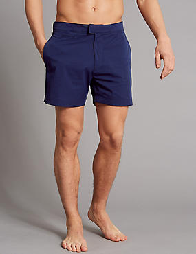 Auto Stretch Swim Shorts, DARK BLUE, catlanding