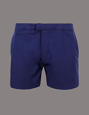 Auto Stretch Swim Shorts, DARK BLUE, catlanding
