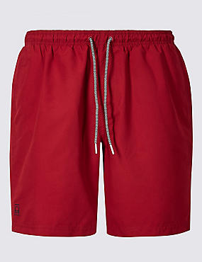 Quick Dry Swim shorts, MEDIUM RED, catlanding
