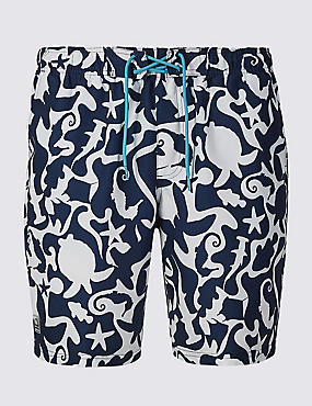 Quick Dry Swim shorts, NAVY, catlanding