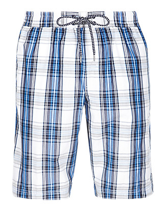 Checked Swim Shorts Clothing