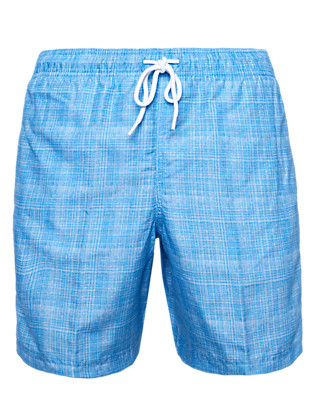 Grid Checked Quick Dry Swim Shorts Clothing
