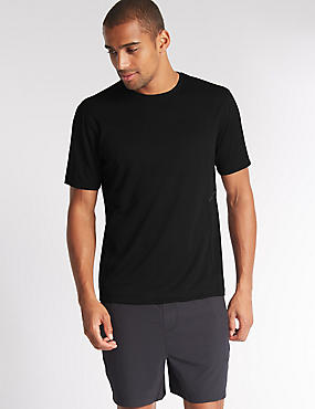 Quick Dry Active Mesh T-shirt with Reflective Trim