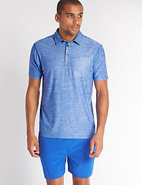 Slim Fit Active Polo Shirt with Quick Dry