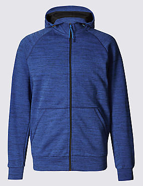 Textured Active Hooded Top