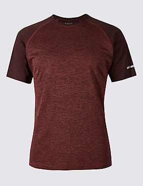 Slim Fit Textured Crew Neck T-Shirt