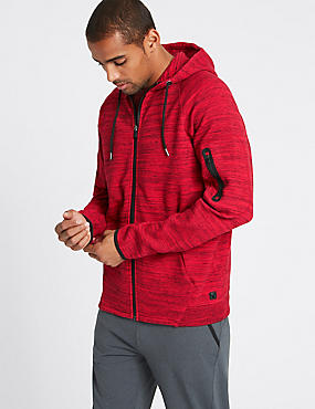 Cotton Rich Hooded Neck Sweatshirt