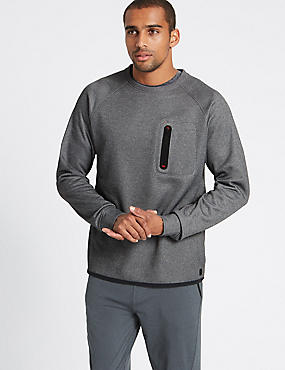 Slim Fit Textured Sweatshirt