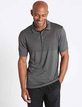 Active Polo Shirtwith Stretch, BLACK, catlanding