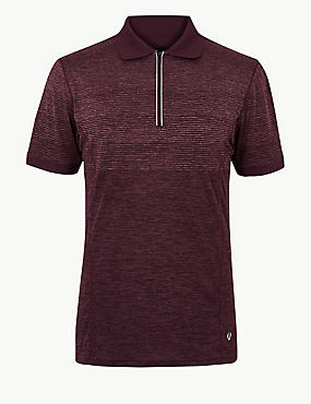 Active Textured Polo Shirt, WINE MIX, catlanding